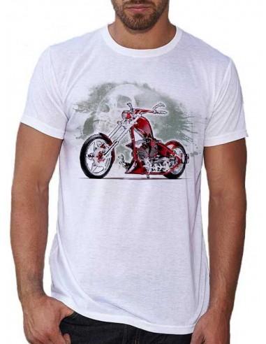 T-shirt Blanc homme - Moto Death Valley