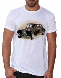 T-shirt Blanc homme - Citroën traction