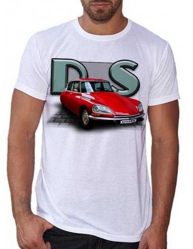 T-shirt blanc - homme - Voiture D.S