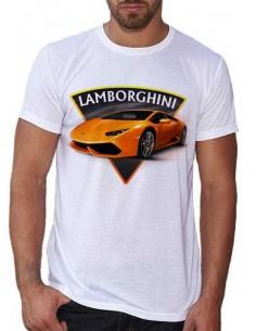 T-shirt blanc - Homme - Voiture Lamborghini