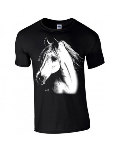 T-shirt enfant portrait d'un Cheval arabe