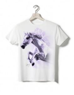 T-shirt enfant - Cheval en saut violet