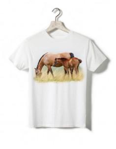 T-shirt enfant - Jument et son poulain