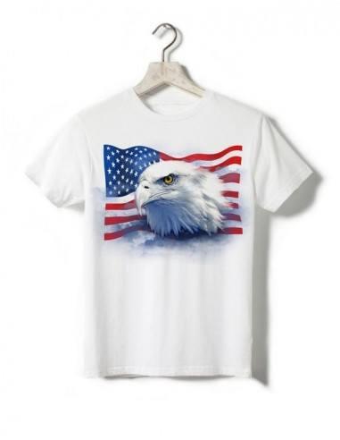 T-shirt blanc - Enfant - Aigle americain