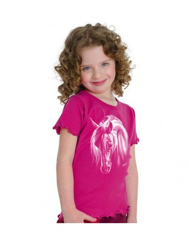 T-shirt enfant - Mouse girl's fashion -Cheval Crin blanc