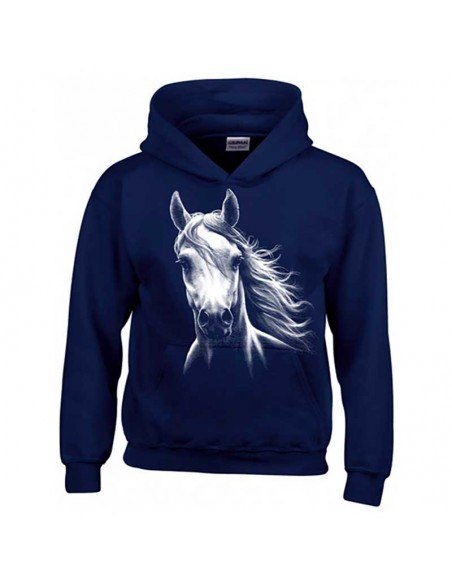 Sweat Shirt couleurs enfant - Cheval Blanc