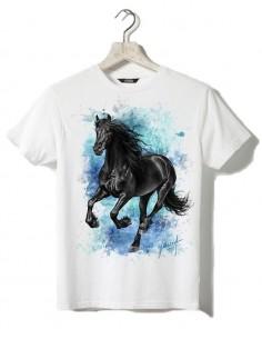 T-shirt blanc - Enfant - Frison au galop