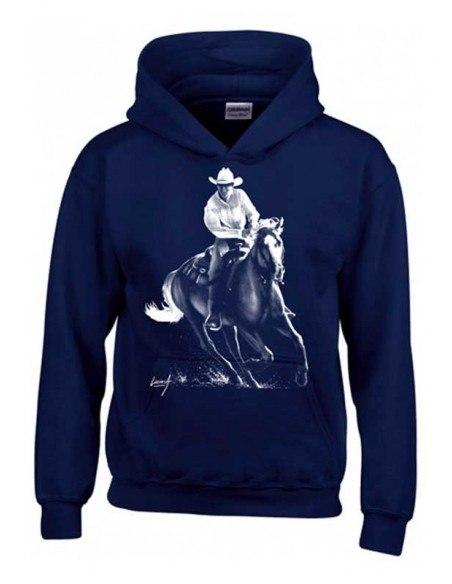Sweat Shirt capuche Enfant - Cowboy