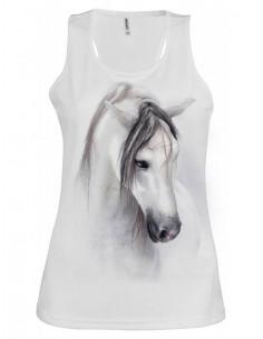 Débardeur blanc Femme Avec cheval - Dream horse