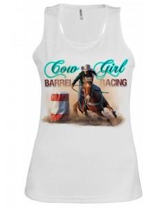 Débardeur blanc- Femme - Barrel racing