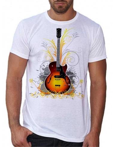 T-shirt Blanc - Au Son Des Guitares