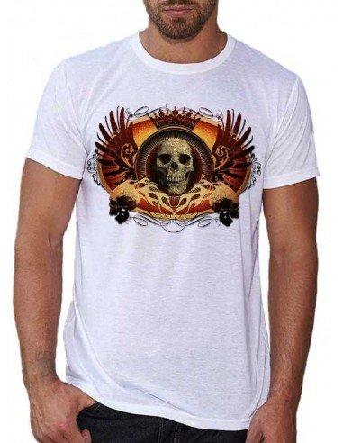 T-shirt blanc - Tête de mort ailée
