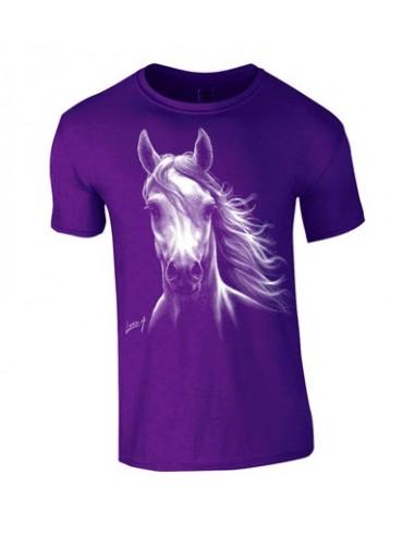 T-shirt enfant Cheval blanc