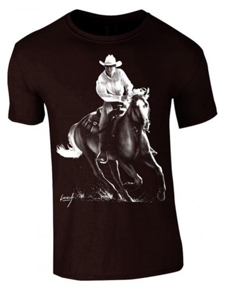 T-shirt noir - Homme- Cowboy