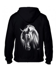 Sweat-shirt avec zip - Femme - Cheval Crins blanc