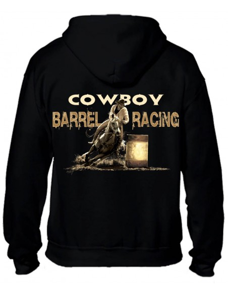 SWEAT-SHIRT NOIR AVEC ZIP - HOMME - BARREL RACING