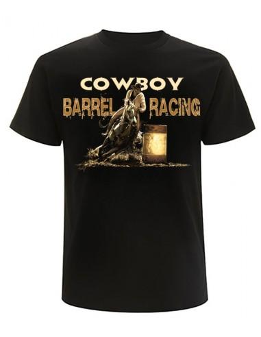 T-shirt noir manches courtes - Homme- Barrel-Racing