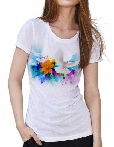 T-shirt Blanc - Beautiful Paradise