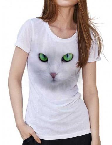 T-shirt Blanc - Cat Eyes