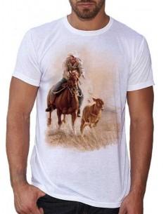 T-shirt blanc homme: Roping