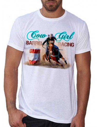 T-shirt homme Barrel racing