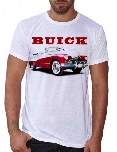 Tee shirt homme avec Buick rouge